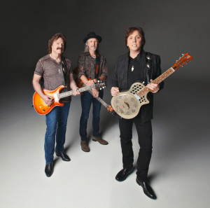 The Doobie Brothers' Tom Johnston, Patrick Simmons and John McFee